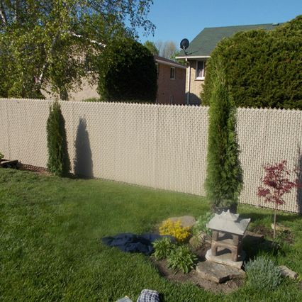 Newly painted fence